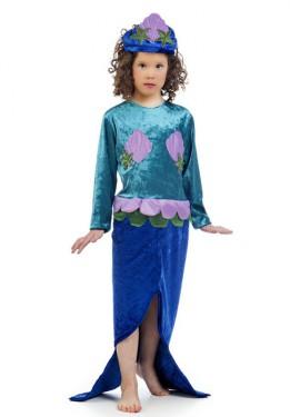 Disfraz de Sirenita azul para niña