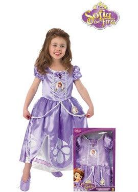 Disfraz de Sofía de First en caja para niña