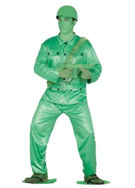 Disfraz de Soldadito verde de Plástico para hombre