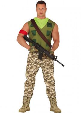 Disfraz de Soldado de Combate para hombre