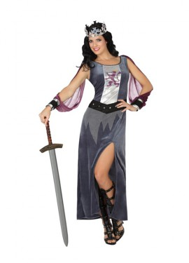 Déguisement de Reine Guerrière Médiévale pour femmes plusieurs tailles