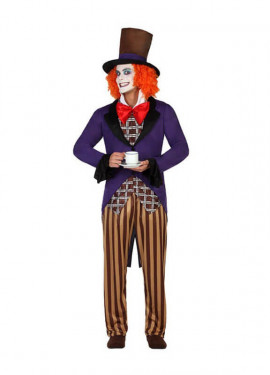 Disfraz de Sombrerero Loco para hombre talla M-L