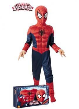 Disfraz de Spiderman musculoso en caja para niño