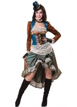 Disfraz de Steampunk con sombrero para mujer