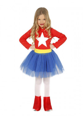 Disfraz de Super América con tutú