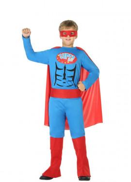 Disfraz de Súper Héroe Azul para niño