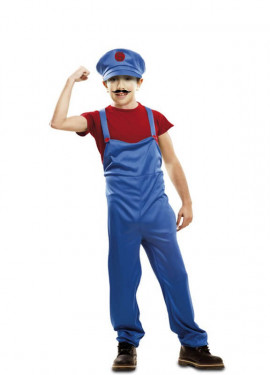 Disfraz de Super Plumber rojo para niño