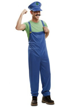 Disfraz de Super Plumber verde para hombre