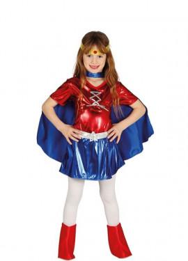 Disfraz de Superheroína Maravilla para niña