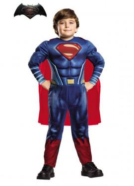 Disfraz de Superman musculoso BvS en caja para niño
