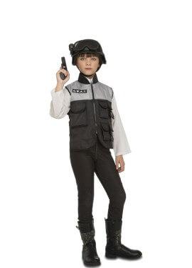 11a1a0c63 Disfraces de Policía y Presos de Niña · Disfraz de La Ley para Niña