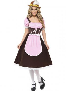 Disfraz de Tabernera Largo Mujer para Oktoberfest