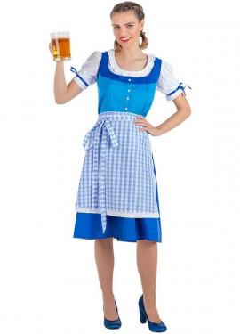 Disfraz de Tirolesa Azul para mujer