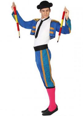 Costume blu da matador per un uomo