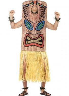 Disfraz de Tótem Tiki Marrón para adultos