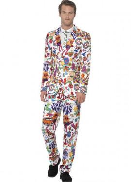 Disfraz de Traje Divertido de Hippie para hombre