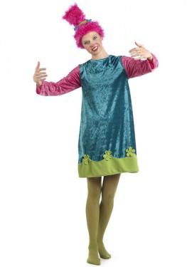Disfraz de Troll Cariñosa para mujer