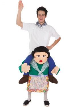 Costume di turista su spalle di fallera per adulti