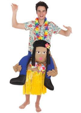 Déguisement Gonflable Carry Me Touriste et Hawaïen pour adulte