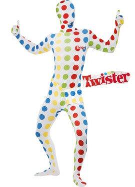 Disfraz de Twister Segunda piel blanco para hombre