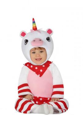 Disfraz de Unicornio Blanco para bebé