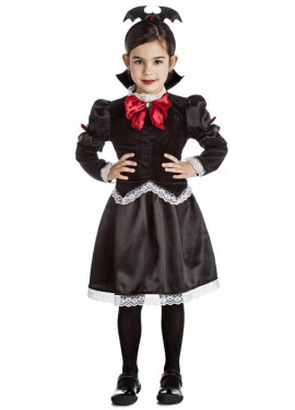 Disfraz de Vampira Gótica oscura para niña