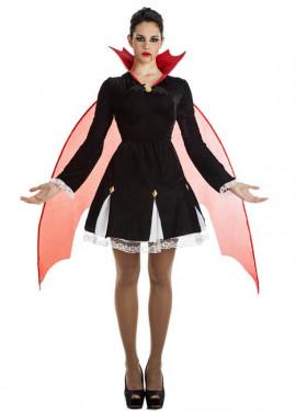 Disfraz de Vampiresa con Alas para mujer