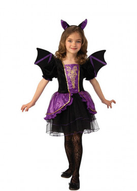 Disfraz de Vampiresa con Alas para niña
