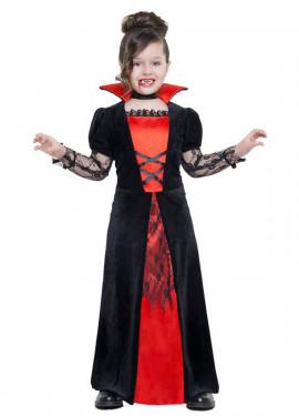Disfraz de Vampiresa encaje para niña