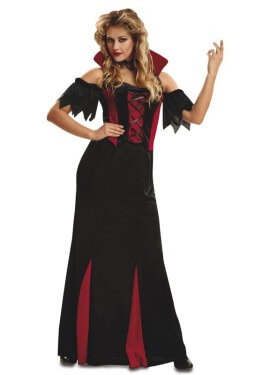 Disfraz de Vampiresa Gótica largo para mujer