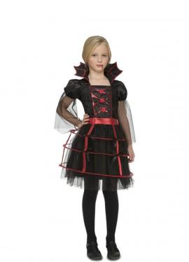 Disfraz de Vampiresa Gótica Miriñaque para niña