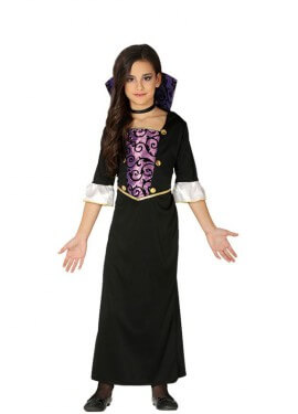 Disfraz de Vampiresa Lila para niña