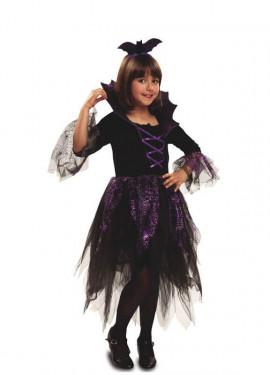 Disfraz de Vampiresa Murciélago para niña