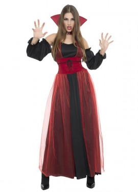 Disfraz de Vampiresa tul para mujer