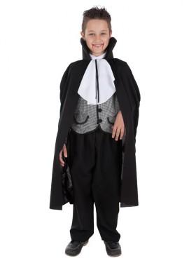 Disfraz de Vampiro a cuadros para niño