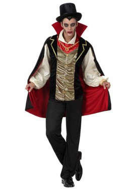 Disfraz de Vampiro Deluxe para hombre talla M-L