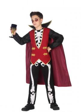 Disfraz de Vampiro Esqueleto para niño