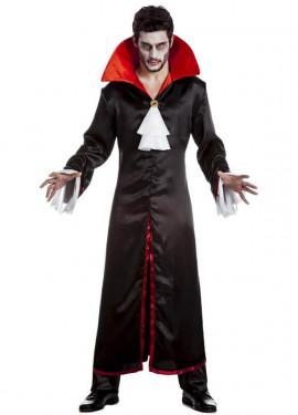 Disfraz de Vampiro negro y rojo para hombre