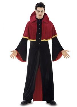 Disfraz de Vampiro rojo para hombre en talla M-L para Halloween