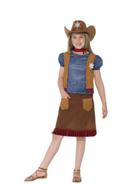 Disfraz de Vaquera del Oeste para niña
