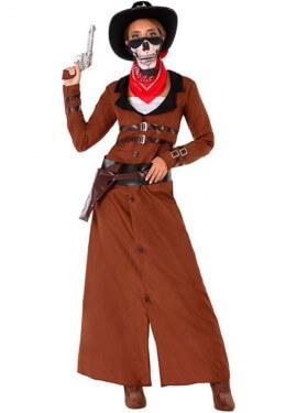Disfraz de Vaquera Marrón para mujer