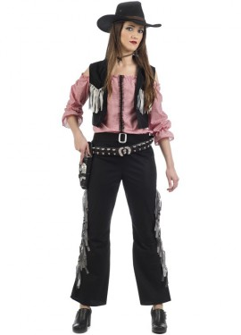 Disfraz de Vaquera Negra para mujer