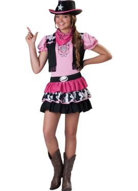 Disfraz vaquera o cowgirl rosa para niñas y adolescentes varias tallas