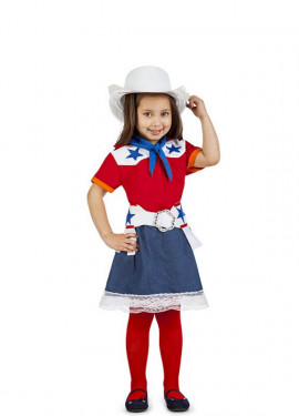 Disfraz de Vaquera Rodeo para niña