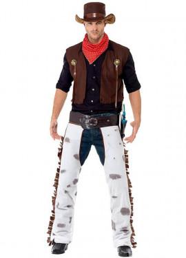 Disfraz de Vaquero color Marrón para hombre