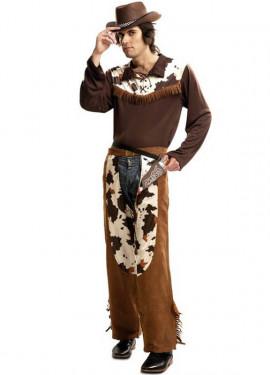 Disfraz de Vaquero marrón para hombre