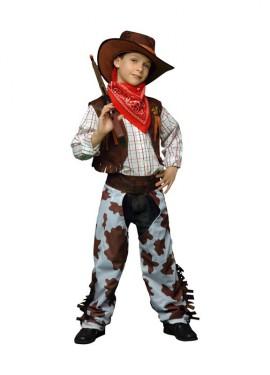 Disfraz de Vaquero marrón y blanco para niños