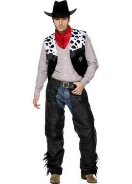 Disfraz de Vaquero Negro para hombre
