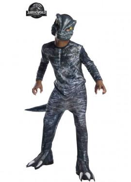 Disfraz de Velociraptor Clásico de Jurassic World para niño