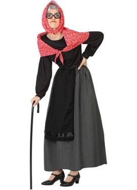 Disfraz de Vieja Feliz para mujer